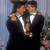 Dustin Hoffman and Tom Cruise, 1989