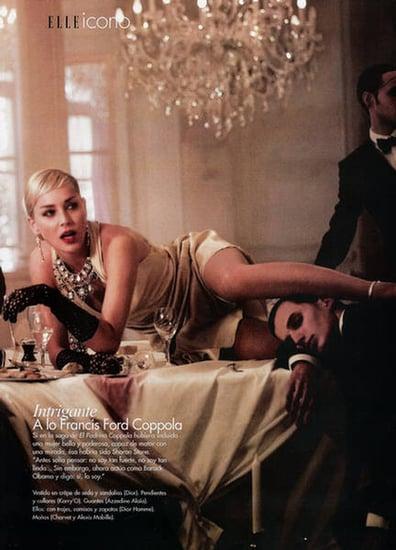 Sharon Stone Elle Argentina photoshoot