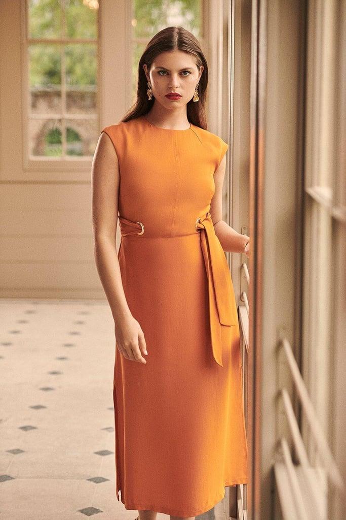 Karen Millen Eyelet Detail Midi Dress
