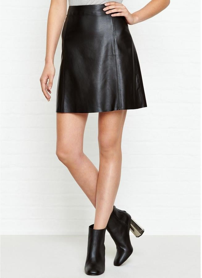 Jigsaw A Line Leather Skirt | Best Black Leather Skirts | POPSUGAR ...