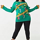 Plus Size Christmas Tree Sweater Dress