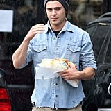 Single Zac Efron Steps Out For Lunch at Subway