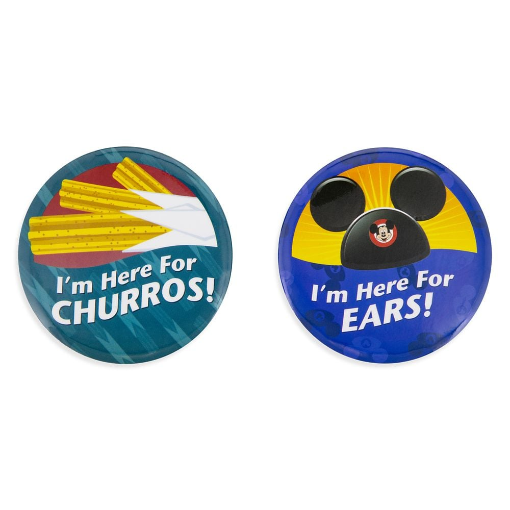 Disney Parks ''I'm Here for . . . Ears!'' Button Set