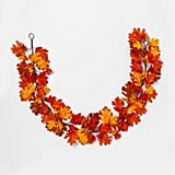 Artificial Oak Leaf Garland in Orange/Yellow