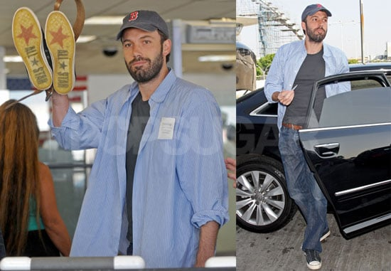 Photos of Ben Affleck On His Way to Democratic National Convention in Denver