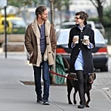 Anne Hathaway and husband Adam Shulman chatted and walked in Brooklyn.