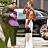 Jennifer Lopez Gucci Floral Top With Alex Rodriguez 2018