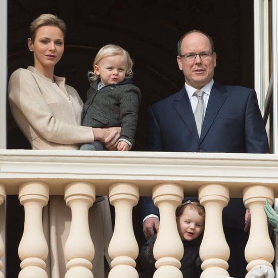 Prince Albert II, Princess Charlene at Church January 2017