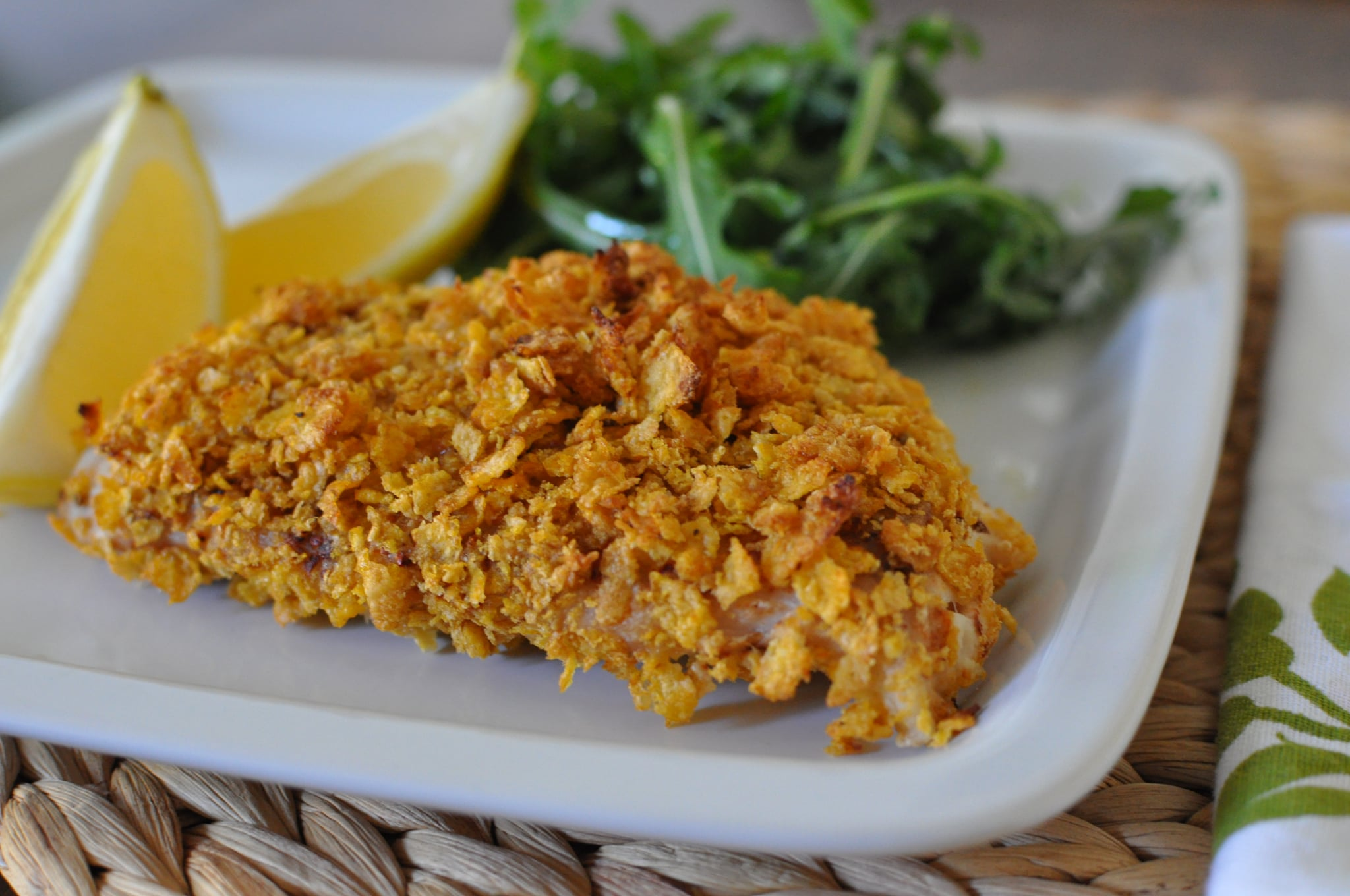 Healthy cornflake crusted fish recipe popsugar food for Tasty fish recipes