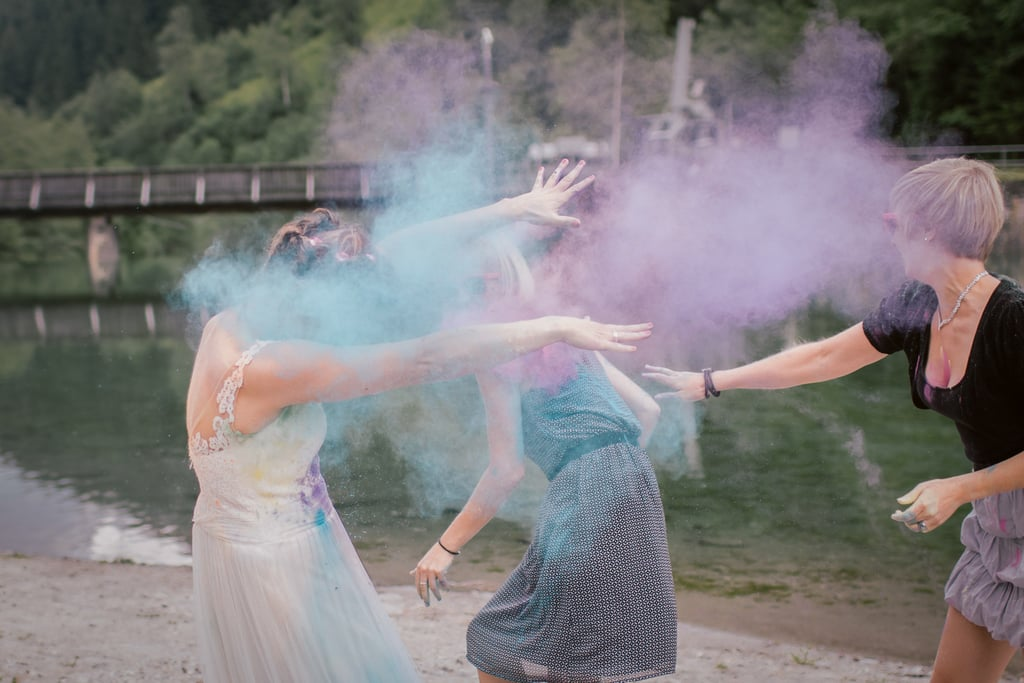 This Bride Surprised Her 2 Sisters With the Most Epic Trash-the-Dress Shoot