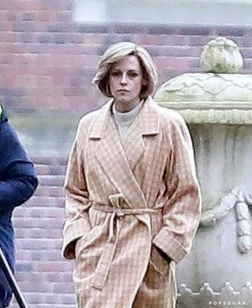 "We initially were hesitant about anyone being able to do Princess Diana justice in the upcoming Spencer film, but we have to admit, Kristen Stewart makes a pretty convincible Lady Spencer. On Feb. 25, the 30-year-old actress was spotted on set in Germany, and she totally pulled off Diana's signature style as she rocked a red-and-green plaid blazer, sunglasses, and that famous shaggy blond hairstyle. On March 3, she was seen again, only this time wearing a tan gingham wrap coat at Schloss Nordkirchen, a palace.  We first got a peek at Stewart as Diana when the official photos of the Pablo Larraín-directed project were released back in January, which is when production began. When asked how she was preparing to take on the momentous role, Stewart told InStyle that nailing the accent was ""intimidating as all hell"" because Diana's voice is ""so, so distinct and particular."" She added: ""I'm working on it now and already have my dialect coach. In terms of research, I've gotten through two and a half biographies, and I'm finishing all the material before I actually go make the movie. It's one of the saddest stories to exist ever, and I don't want to just play Diana — I want to know her implicitly. I haven't been this excited about playing a part, by the way, in so long."" Spencer will center on one significant moment in Diana's life, when she finally decided to leave Prince Charles while spending Christmas with the British royal family at the Sandringham estate in Norfolk, England. The film is set to debut later this fall."