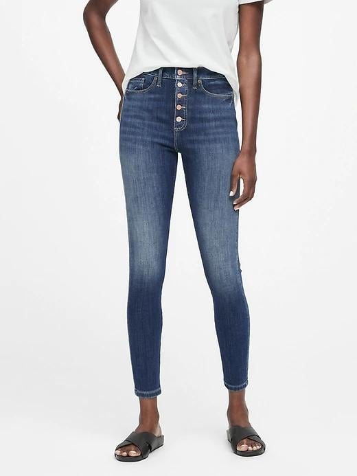 High-Rise Skinny Button Fly Jeans