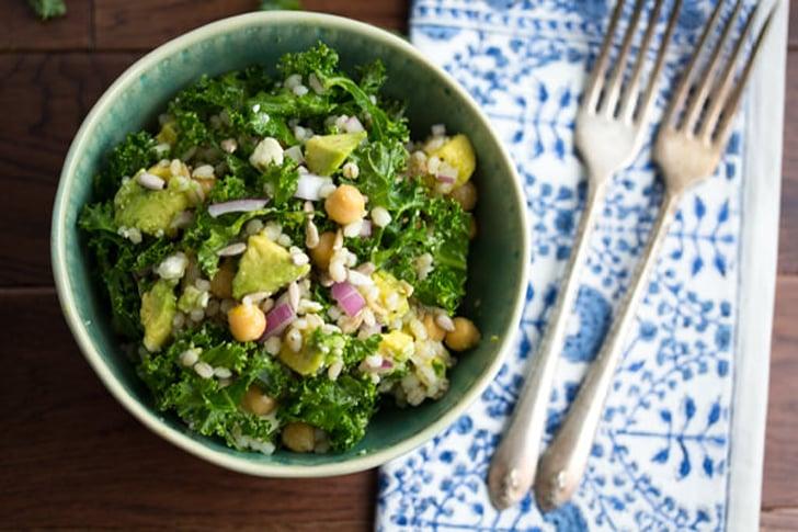 Kale, Barley, and Feta Salad With Honey-Lemon Vinaigrette