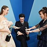 إيرين دوهرتي، وجوش أوكونور، وهيلينا بونهام كارتر في حفل جوائز نقابة ممثلي الشاشة SAG لعام 2020