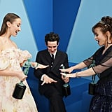 Erin Doherty, Josh O'Connor, and Helena Bonham Carter at the 2020 SAG Awards