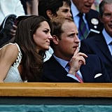 Prince William and Kate Middleton sit in the royal box at Wimbledon.