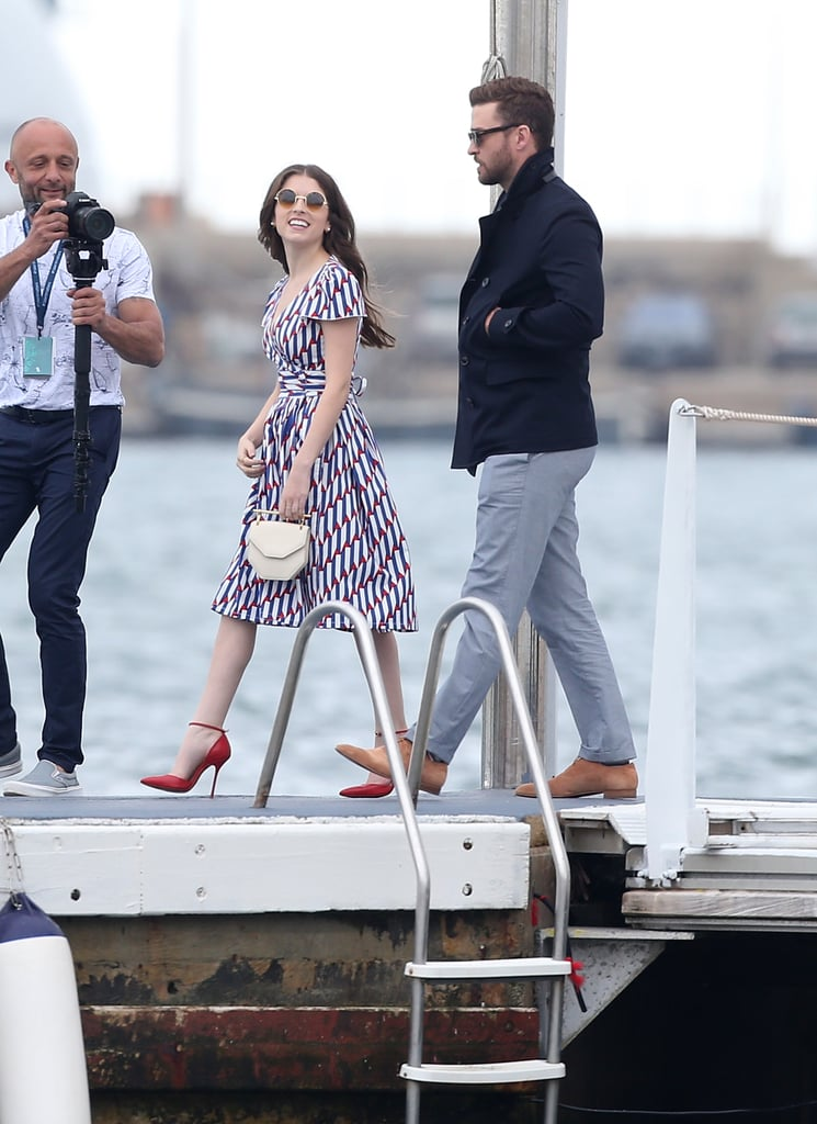 Anna Kendrick Looked Every Bit the Style Queen in Her Patriotic Shirt Dress