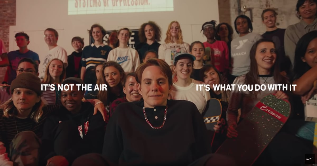 Watch Skateboarder Leo Baker S Inclusive Inspiring Nike Ad Popsugar Fitness
