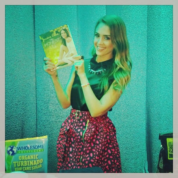 Jessica Alba posed with her newly released book, The ...
