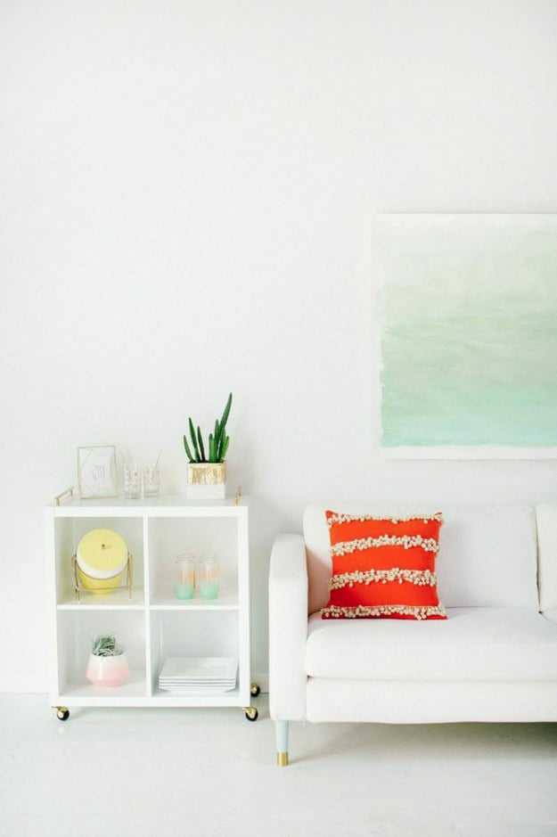 Watercolor art prints like this one are a great way to bring the ocean indoors.