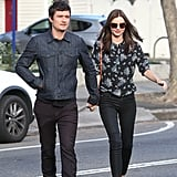 Genetically-blessed couple Orlando Bloom and Miranda Kerr looked suitably fashionable as they hit the streets of Sydney on August 20.
