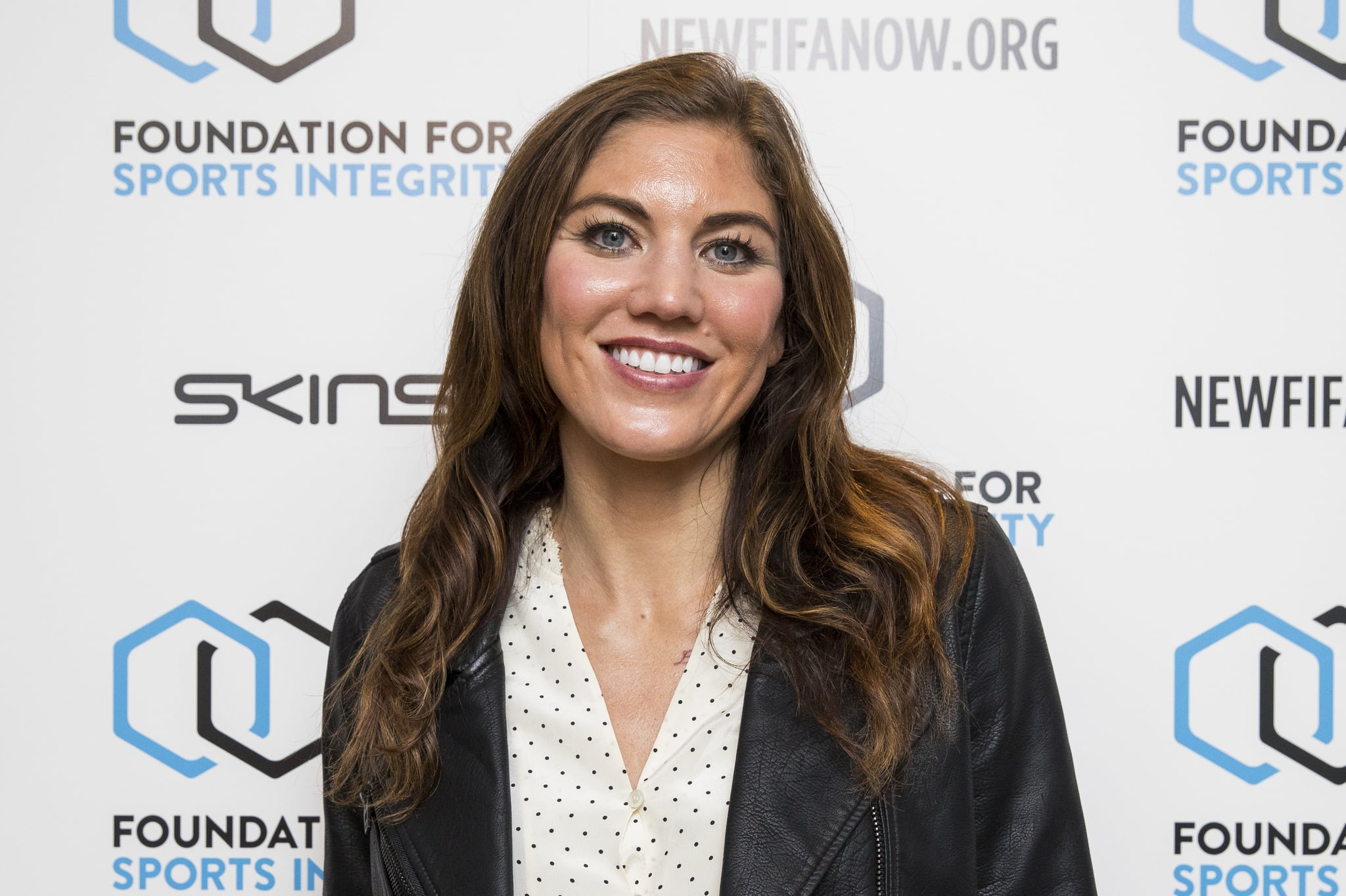 LONDON, ENGLAND - MAY 31:  Hope Solo attends The Foundation For Sports Integrity (FFSI) inaugural 'Sports, Politics and Integrity Conference'  at Four Seasons Hotel on May 31, 2018 in London, England.  (Photo by Tristan Fewings/Getty Images for Foundation For Sports Integrity)