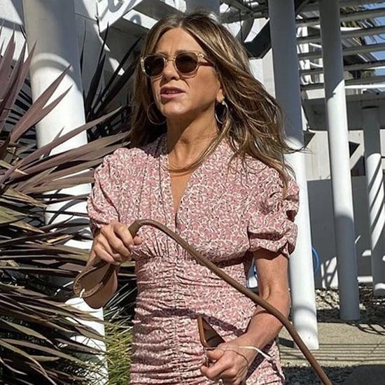 Jennifer Aniston Wears Isabel Marant Minidress on Instagram