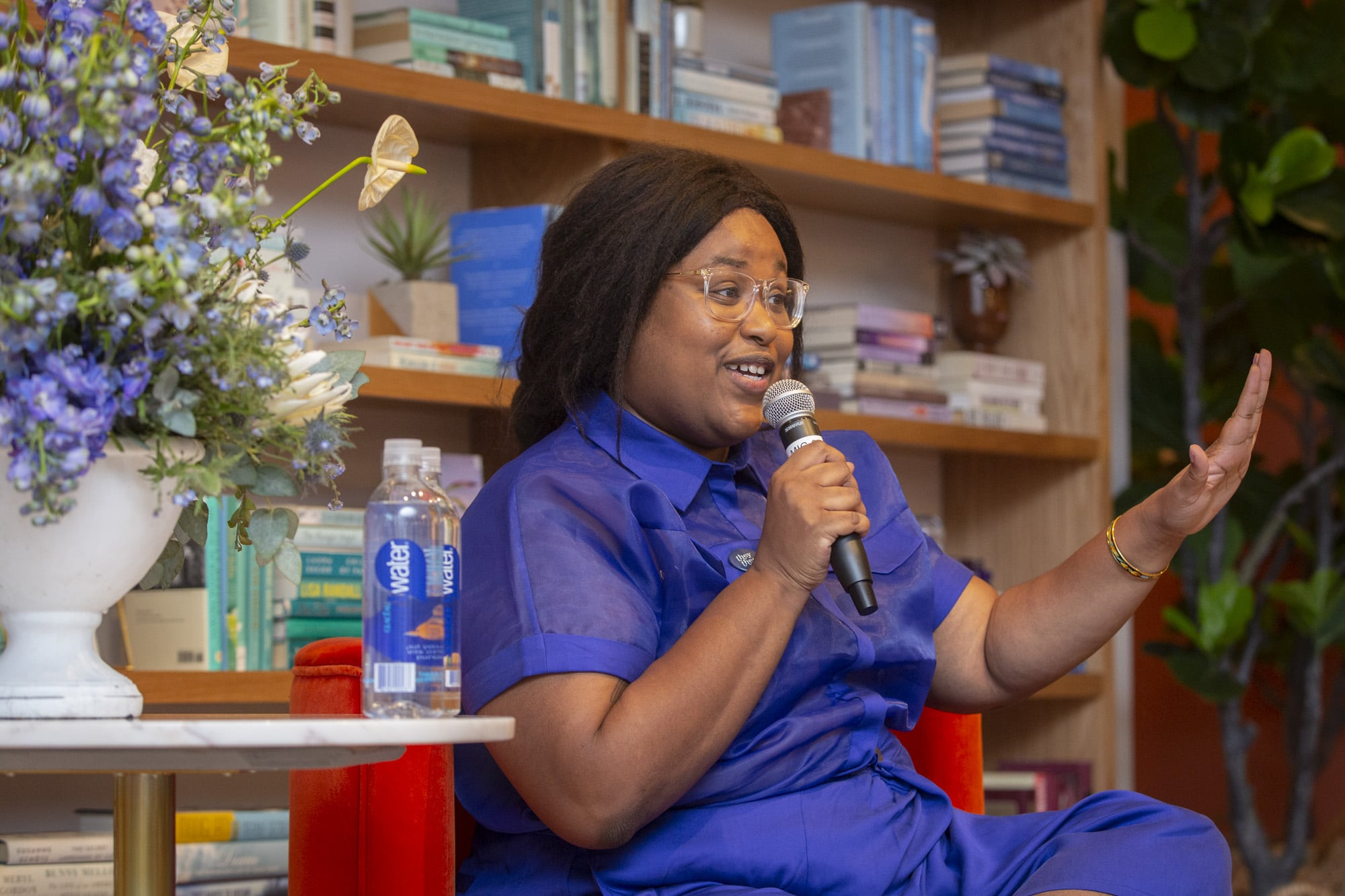 LOS ANGELES, MAY 2, 2019: The Wing and Smartwater event in West Hollywood with Aminatou Sow