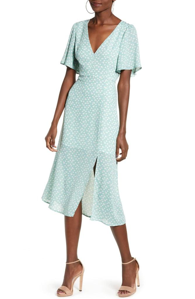 Leith Flutter Sleeve Midi Dress