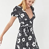 UO Jocelyn Printed Puff Sleeve Mini Dress