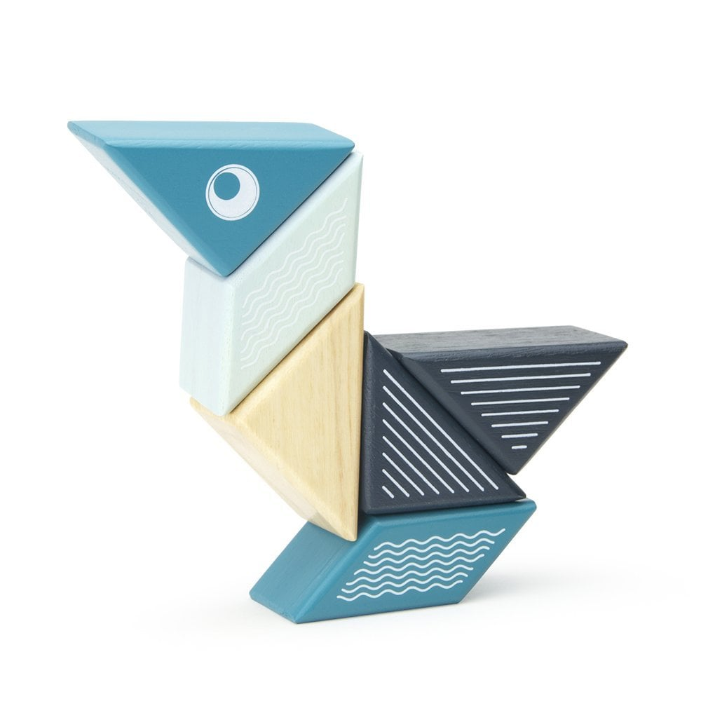 Tegu Travel Pals Magnetic Wooden Building Toy Blocks
