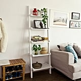 Haotian Leaning Ladder Bookshelf Made of Wood With Five Floors