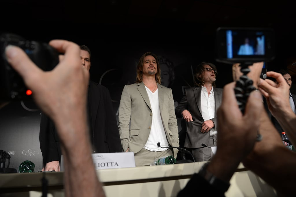 Brad Pitt talked about his engagement at Cannes.