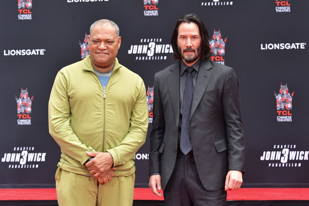 ¿Cuánto mide Laurence Fishburne? - Real height Keanu-Reeves-Handprint-Ceremony-Hollywood-May-2019
