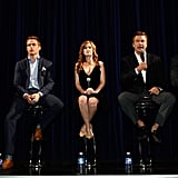 Costars Peter Ramsey, Isla Fisher, Alec Baldwin, and Chris Pine attended a Q&A session for Rise of the Guardians.