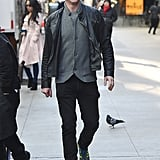 Damian Lewis looked dapper on the set on Oct. 26.