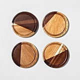 4pk Wood Coaster Set