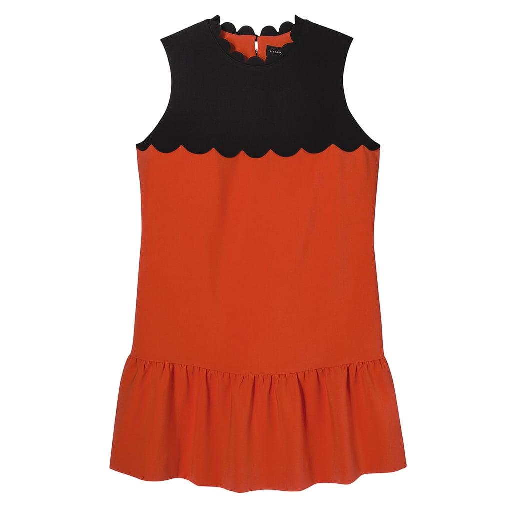 Orange Drop Waist Scallop Trim Dress ($40)