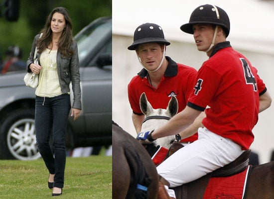 8/6/2009 Prince Harry, Prince William, Kate Middleton at Polo