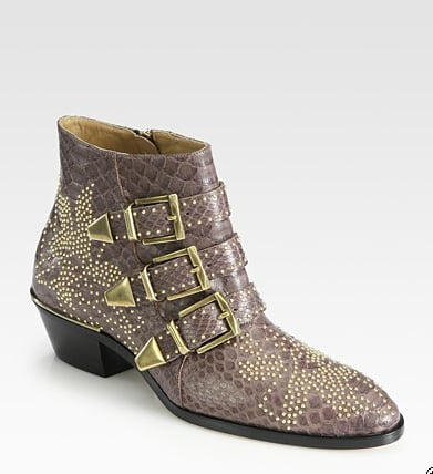 They're an investment, but these Chloe Suzanna Studded Python buckle ankle boots ($1,820) practically started the trend on the heels of Sienna Miller, Mandy Moore, and more of our favorite style setters.