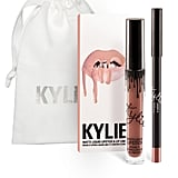 """The coveted Kylie Lip Kits are basically the equivalent of gifting someone a gorgeous pair of diamond studs. If I have an extra of one of the shades in my kit, I like to surprise someone with it — their reaction is priceless. Candy K is a really pretty pink shade that works well on a lot of skin tones. Not too bright, but not too white or dull, so you can't go wrong. And the lip pencil it comes with is one of my favorite textures. So smooth.""   Kylie Lip Kit in Candy K ($29)"