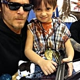 When He Taught a Mini Daryl How to Scowl