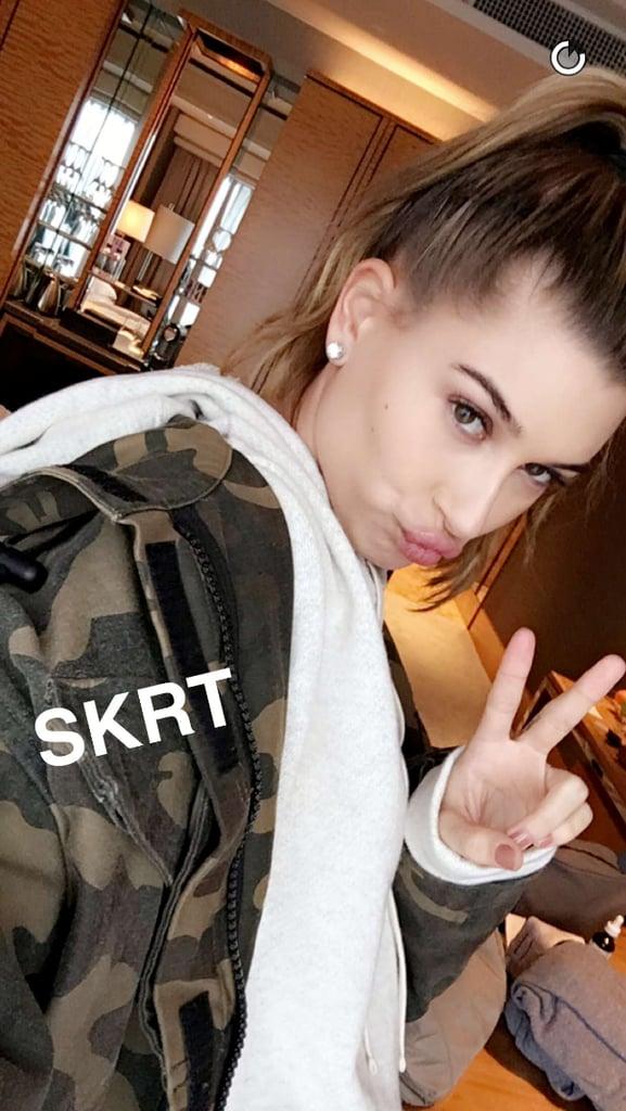 Hailey Baldwin on Snapchat: haileybisboring