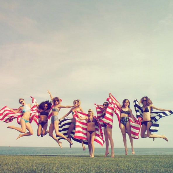When They Celebrated Independence Day With Matching Beach Towels