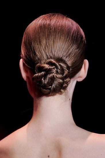 Of All Our Haute Couture Fashion Week Coverage This Twisted Chignon Hot On Pinterest Superman Nail Art And Beachside Beauty Essentials Popsugar Beauty Photo 6