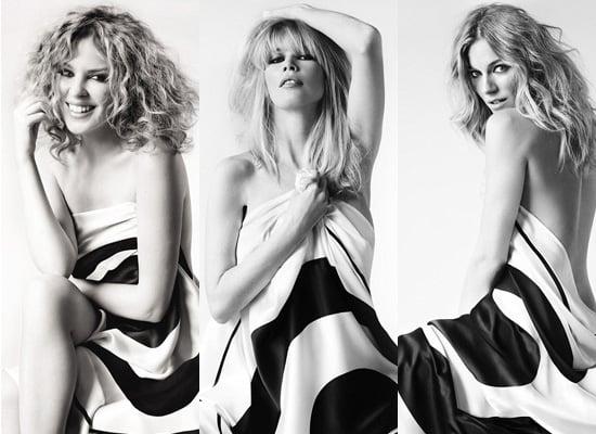 Fab Ad: Claudia, Sienna and Kylie Strip for Charity