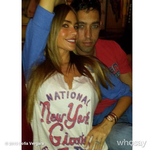 Sofia Vergara and her fiancée, Nick Loeb, attended a New York Giants game together. Source: Sofia Vergara on WhoSay