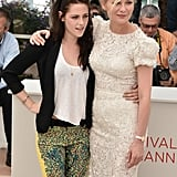 Kristen Stewart and Kirsten Dunst got together at the On the Road photocall at the Cannes Film Festival.