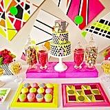 Neon '80s Dessert Table