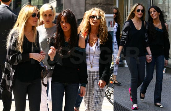 Lindsay Lohan Out Shopping with Samantha Ronson, Annabelle Dexter-Jones, and Ali Lohan
